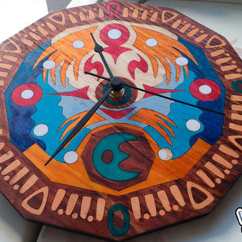 Wall Clock of Clock Town Tower Moon inspired on the The Legend of Zelda MM