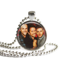 Supernatural Necklace Castiel, Sam and Dean Winchester Handmade