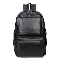Hot Female Backpack for women school PU leather backpacks bags fashion black travel waterproof  black travel rucksack mochila