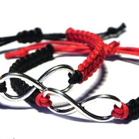 Couples Bracelets, Infinity Bracelet, His Hers Friendship Bracelet = 1697166532