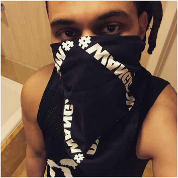 WANGXO Bandana #WANGXO TheWeeknd Collaboration with Alexander Wang Bandana From Coachella