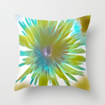 wild flower Throw Pillow by violajohnsonriley
