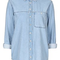 TALL MOTO Bleach Denim Shirt | Topshop