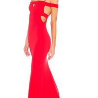 Lovers + Friends Cece Gown in Red Rose