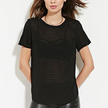 Contemporary Shadow Stripe Tee