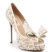 Valentino - Couture Bow Lace Pumps