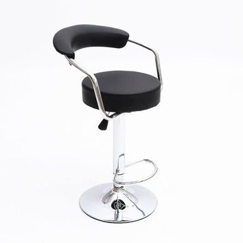 High Quality European 'Hot Selling' Liftable Bar Stool With Synthetic Leather Seat and Handsome Chrome Stool With The Ability to Comfortably Swivel 360 Degrees.