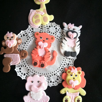 Jungle Animals Baby Shower, Safari Animal Birthday, Animal Birthday Party, Cute Baby Animals, Zoo Animals Favors, Zoo Animals Decorations