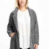 Marled-Boucle Plus-Size Jacket for Women | Old Navy