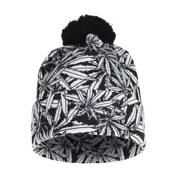 Dope Beanie Pot Leaf - Puff-Ball Beanies