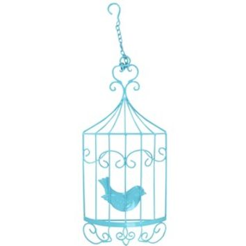 Turquoise Hanging Bird Cage Metal Wall Decor | Shop Hobby Lobby