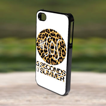 Accessories Print Hard Case for iPhone 4/4s, 5, 5s, 5c, Samsung S3, and S4 - SOS 5 Second of Summer Leopard Pattern