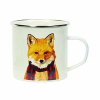 Holiday Enamel Mug - Fox