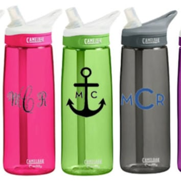 CamelBak 0.75 Eddy Personalized Monogram Water Bottle Sports bottles Name water bottle Gift