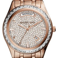 Women's Michael Kors 'Kiley' Crystal Dial Bracelet Watch, 34mm