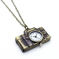 Camera watch necklace