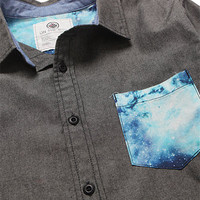 On The Byas David Cosmic Pocket Long Sleeve Woven Shirt at PacSun.com