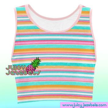 5e7b12cc84bf7 CANDY CANE Music Festival Clothing Rave Outfit Festival Crop Top