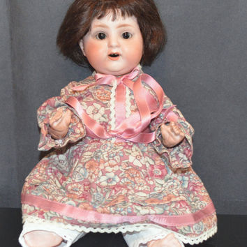 Schoenau & Hoffmeister Bisque Head Composition Body Doll Mold 169 German Bisque Antique Doll