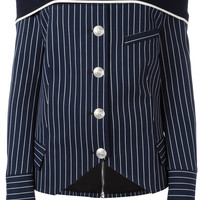 Pierre Balmain off-shoulder Striped Shirt - Farfetch