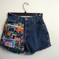 Star Wars High  Waisted Shorts CUSTOM ORDER by wildblacksheep