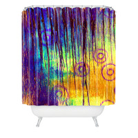 Sophia Buddenhagen Blue Crush Shower Curtain