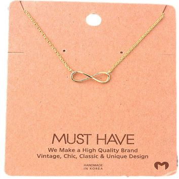 Must Have-Infinity Necklace, Gold