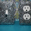 ONE Chunky SILVER Glitter Switchplate or Outlet Cover (ANY Style)