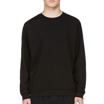 3.1 Phillip Lim Black Elbow Patch Sweatshirt