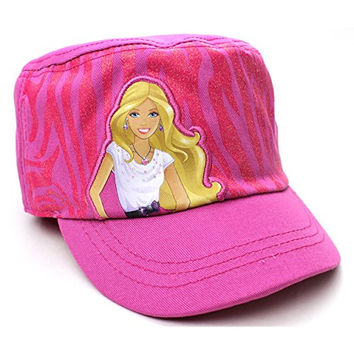 Barbie Girls Cadet Cap Hat (Pink)