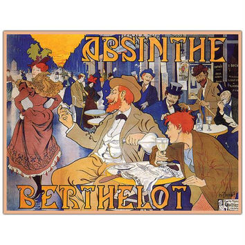Absinthe Berthelot by Thiriet-Ready to Hang 35x47 Canvas Art