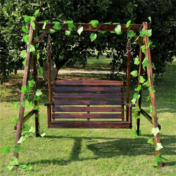 Wood Hanging Garden Chair Balcony Courtyard Rocking Chair Outdoor Swing Beach Chair