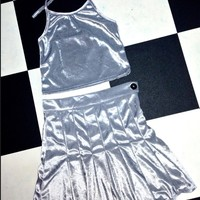 SWEET LORD O'MIGHTY! VELVET HALTER IN SILVER