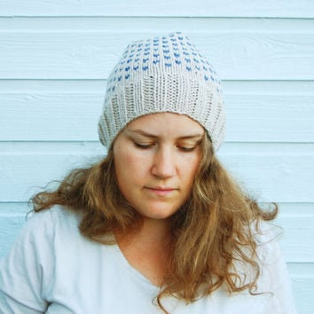Warm winter hat - fair isle knit