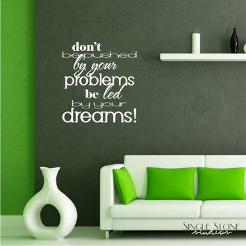 Wall Decals Led By Dreams Vinyl Text Wall by singlestonestudios