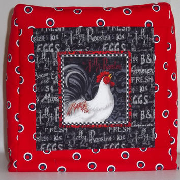KitchenAid Mixer Cover, Stand Mixer Cover, Artisan Mixer Cover, Red and Black, Rooster