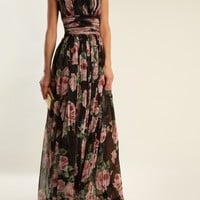 Rose-print silk-tulle gown | Dolce & Gabbana | MATCHESFASHION.COM US