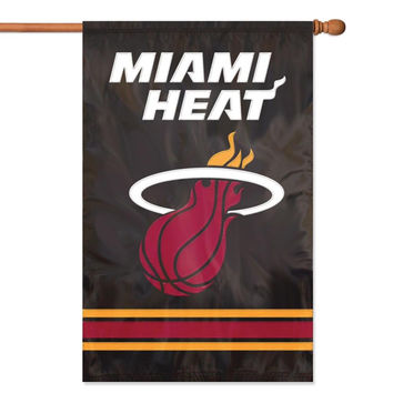Miami Heat NBA Applique Banner Flag