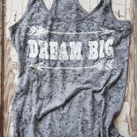 DREAM BIG STONE WASHED TANK GR - Junk GYpSy co.