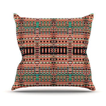 "Nina May ""Deztekka"" Orange Throw Pillow"