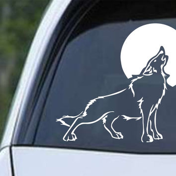 Wolf Howling (c) Die Cut Vinyl Decal Sticker