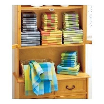 Kitchen Towel Dish Cloth Set 14 Piece Cotton Waffle Weave Colorful Cleaning Wash