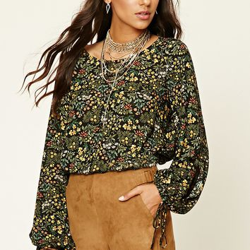 Contemporary Woven Floral Top