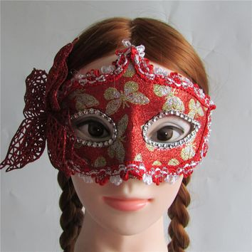 Red Butterfly Princess Masquerade Mask