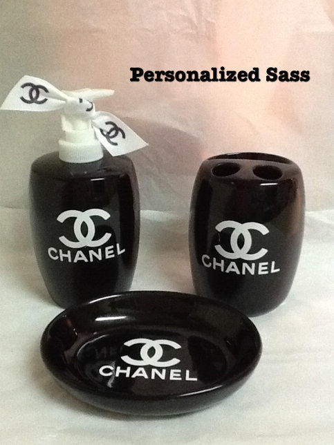 Chanel Bath Room Set From Personalizedsassstorenvy On Storenvy
