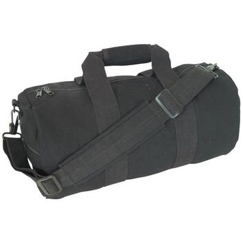 Durable Adjustable Shoulder and Backpack Flap with Closure Strap Canvas Roll Bag