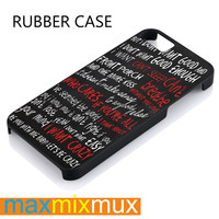 Hunter Hayes Quote iPhone 4/4S, 5/5S, 5C, 6/6 Plus Series Rubber Case
