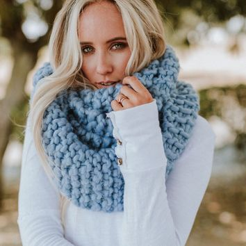 Magical Chunky Wrap Infinity Scarf - Periwinkle