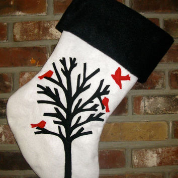 Flocking Home for the Holidays Christmas Stocking