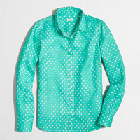 FACTORY PRINTED CLASSIC BUTTON-DOWN SHIRT IN LINEN
